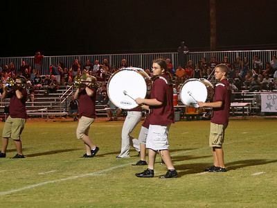 Base drums keep the rhythm