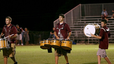 Marching to the beat of a Bison drummer