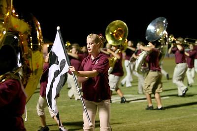 Flag amidst the brass