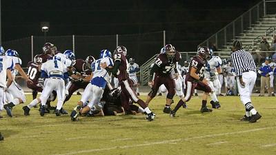 Bison offense grazes across a wide field