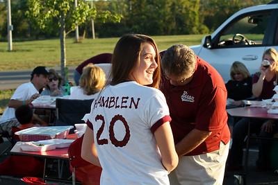 Jordan Hamblen's sister shows her Bison pride for her brother