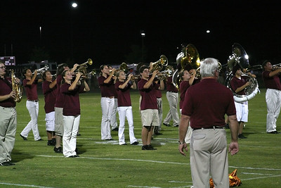Band Director James Waters watches his students