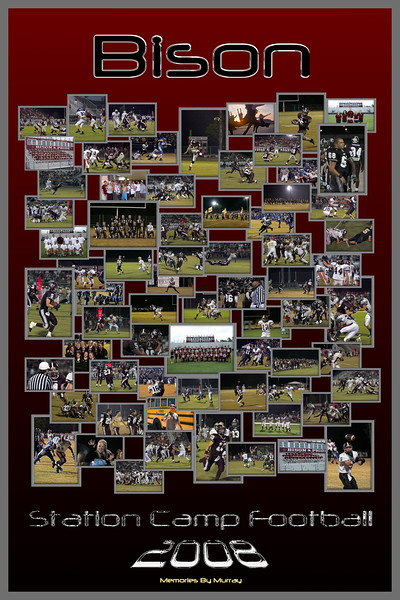 2008 Station Camp Bison Football Collage Poster