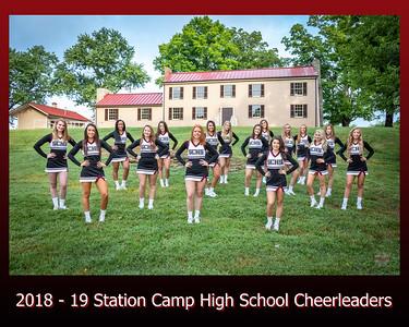 2018 - 19 Cheerleaders at Douglass-Clark House