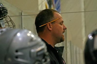 Coach Rick Heagarty encourages his Bison
