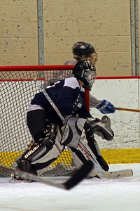Goalie at the ready