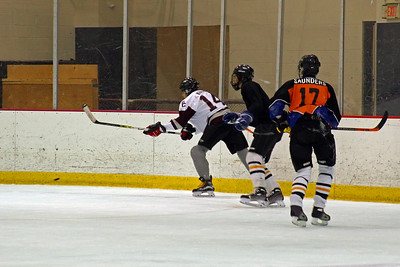 Jesse Kimble chases the puck