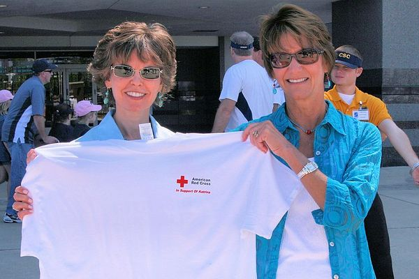 The American Red Cross collected donations for Hurricane Katrina victims.