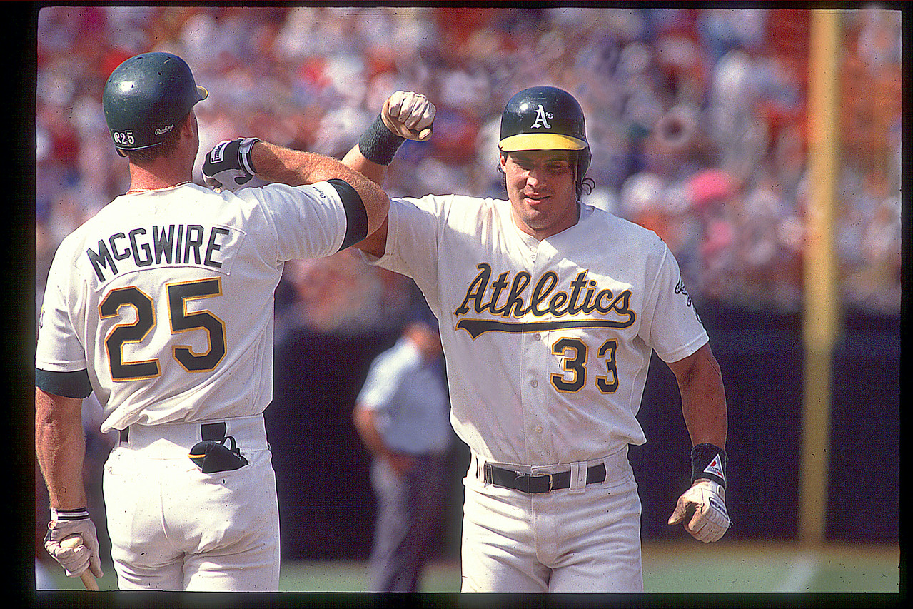 MLB McGwire and Canseco  the Bash Brother's Oakland California USA