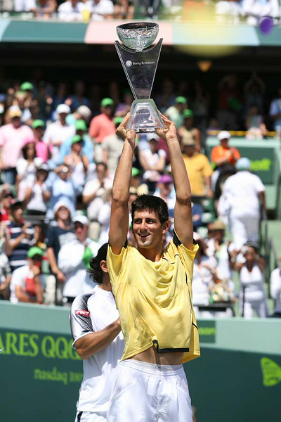 Novak Djokovic at the Erickson tournament