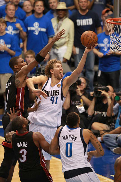 Dirk Nowitzki  at the NBA Finals 2006