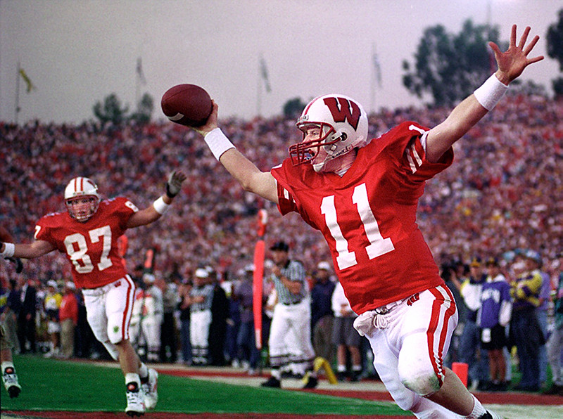 Rose Bowl Wisconsin Winning play 1991
