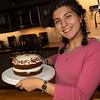 Erin presents her famous cake for sessert