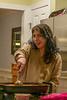 Erin serving Stroganoff