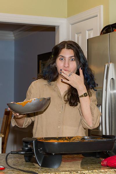 Erin tasting