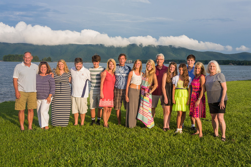 The Group at Smith Mountain Lake - with the cloud hanging over the mountain (Smith Mountain).