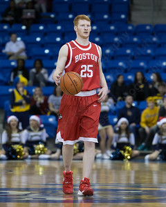 Boston University's Kyle Foreman (25) Sunday at the TD Bank Sports Arena in Hamden Dec. 13, 2015 | Justin Weekes / For the Record-Journal