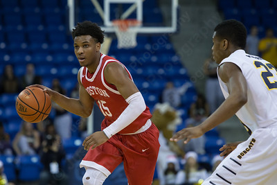 Boston University's Cheddi Mosley (15) Sunday at the TD Bank Sports Arena in Hamden Dec. 13, 2015 | Justin Weekes / For the Record-Journal