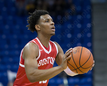 Boston University's Cheddi Mosely (15) Sunday at the TD Bank Sports Arena in Hamden Dec. 13, 2015 | Justin Weekes / For the Record-Journal