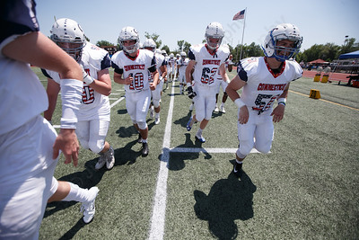 Connecticut gets ready to take on Rhode Island Saturday during the Governors Cup at Veterans Memorial Stadium in New Britain  June 30, 2018 | Justin Weekes / Special to the Record-Journal