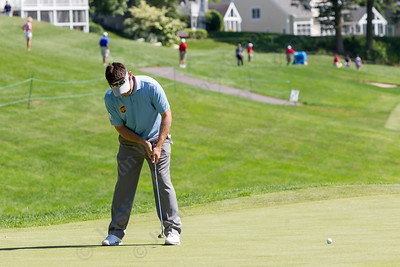 Louis Oosthuizen puts on 18 Wednesday during the Travelers Championship Pro-Am at TPC River Highland in Cromwell Jun. 24, 2015 | Justin Weekes / For the Record-Journal