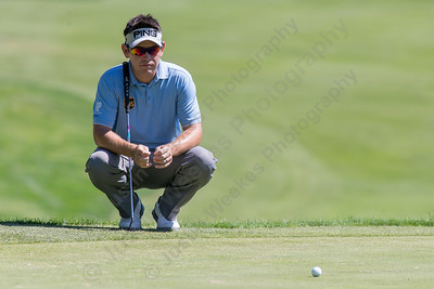 Louis Oosthuizen looks over his put on 18 Wednesday during the Travelers Championship Pro-Am at TPC River Highland in Cromwell Jun. 24, 2015 | Justin Weekes / For the Record-Journal
