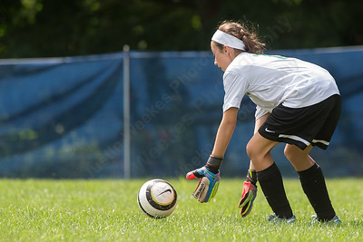 Wallingford's keeper Emma Malone stops a shot Sunday during the TWIST at Choate Rose Mary Hall in Wallingford Aug. 21, 2016   Justin Weekes / For the Record-Journal
