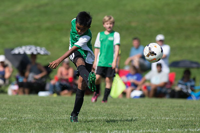 Wallingford's Adithya Nataraj scores Saturday during the TWIST Soccer Tournament in Wallingford Aug. 19, 2017 | Justin Weekes / For the Record-Journal