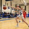 Lunenburg Middle High School girls basketball played Tyngsborough High School on Wednesday, February 6, 2019. LMHS's Autumn Tibbetts chases down a loose ball. SENTINEL & ENTERPRISE/JOHN LOVE