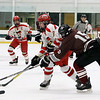Fitchburg/Monty Tech High School hockey played Northbridge High School on Wednesday afternoon at The Fitchburg State University's Wallace Civic Center. NHS's Evan Stone tries to stop Fitchburg's Ryan Johnson. SENTINEL & ENTERPRISE/JOHN LOVE
