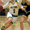 Fitchburg State University ladies basketball played Framingham State University on Saturday, January 26, 2019 at Fitchburg State's Recreation Center. Fitchburg's Angelina Marazzi drives to the basket. SENTINEL & ENTERPRISE/JOHN LOVE