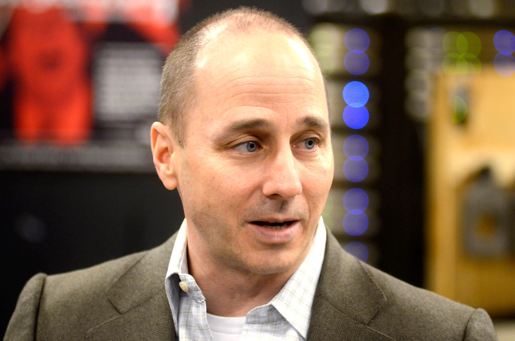 . New York Yankees General Manager Brian Cashman speaks to the media at The Colonial Theater in Pittsfield on Thursday, Jan. 30, 2014. Gillian Jones/Berkshire Eagle Staff
