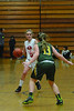 Mounties Mackenzie Flynn tries to dribble around Taconic's Cortnee Clemens. (Gillian Jones/North Adams Transcript)