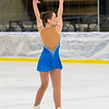 Caroline Gillette performs in the figure skating competition at the Bay State Games on Sunday.