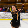 Hannah Masiero performing in the figure skating competition at the Bay State Games on Sunday.