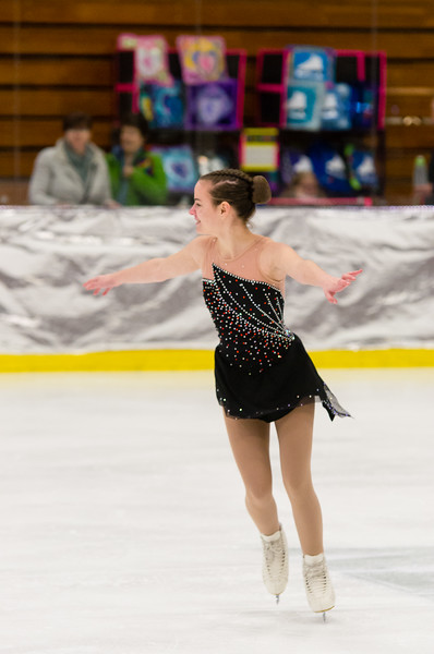 Madison Quinn skates Sunday at the Bay State Winter Games.