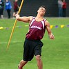 GEOFF SMITH - THE BERKSHIRE EAGLE<br /> Monument Mountain's Jordan Piepho throws the javelin during the Berkshire County Invitational. Piepho finished first overall in the event.