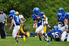 Anthony Follet gains some ground for Drury and moves the ball down the field. (Jack Guerino/ North Adams Transcript)