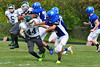 Brandon Koprowki maneuvers around Greenfield defense. (Jack Guerino/ North Adams Transcript)