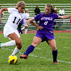 Girls Soccer PHS # 8 Amanda Wright Vrs Monument # 11 Bennie Lopez 10/23/13 Holly Pelczynski/Berkshire Eagle Staff