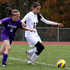 Girls Soccer PHS # 2 Ilana Albert Vrs Monument #12 Carm Preadman 10/23/13 Holly Pelczynski/Berkshire Eagle Staff