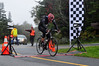 Bob Ethier, of Florence, pedals through the finish line during the Greylock Hillclimb Time Trial. The 9.1 mile race was put on by The Northampton Cycling Club. (Jack Guerino/ North Adams Transcript)