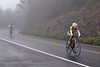 Despite the heavy fog, bikers scale Mount Greylock Saturday morning during the Greylock Hillclimb Time Trial. The 9.1 mile race was put on by The Northampton Cycling Club. (Jack Guerino/ North Adams Transcript)
