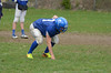 Brandon Koprowski practices with the Drury High School football team. (Gillian Jones/North Adams Transcript)