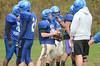 Nate VanSteemburg practices with the Drury High School football team. (Gillian Jones/North Adams Transcript)