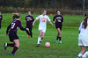 Hoosac's Megan Rodowicz made the only goal in the 2-1 game against Easthampton. (Gillian Jones/North Adams Transcript)