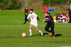 Hoosac's Marissa Felter and Easthampton's Jen Szafir battle for possession. (Gillian Jones/North Adams Transcript)
