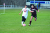 Hoosac's McKenzie Robinson and Easthampton's Angela Nardi battle for possession. (Gillian Jones/North Adams Transcript)