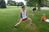 Mount Greylock Cross-Country runner Carter Stripp practices with fellow team members at the school on Tuesday August 27, 2013. (Gillian Jones/North Adams Transcript)