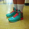 "Hoosac Valley girls basketball player Madi Ryan said her sneakers are ""teal."""